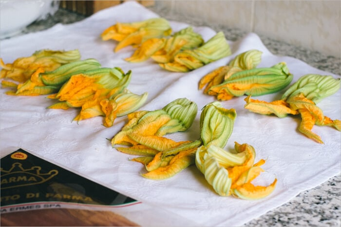Zucchini Flowers used for frying