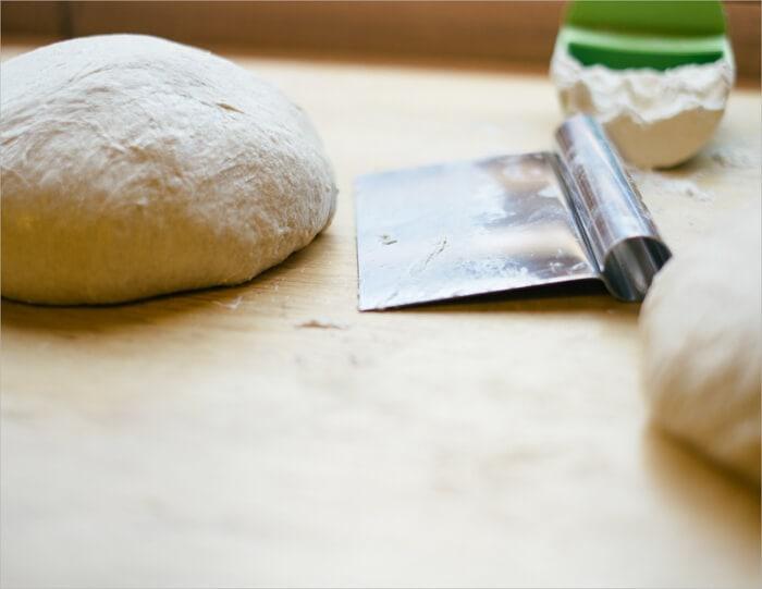 Tartine sourdough boule after light pre-shape
