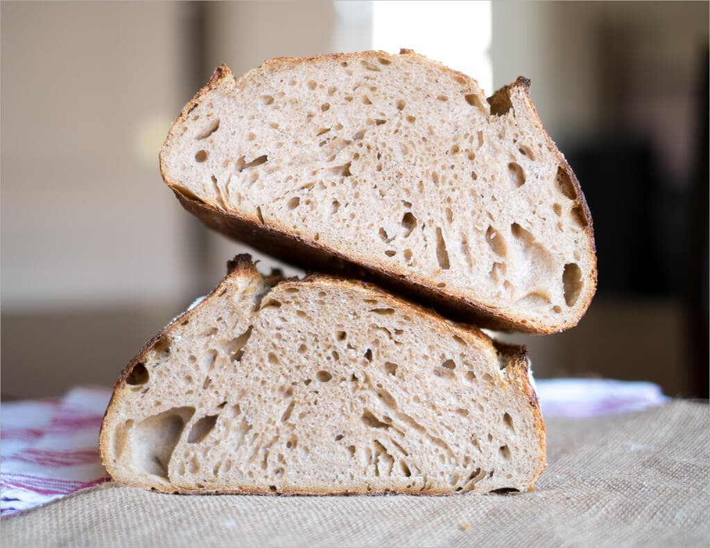Nice open and airy crumb