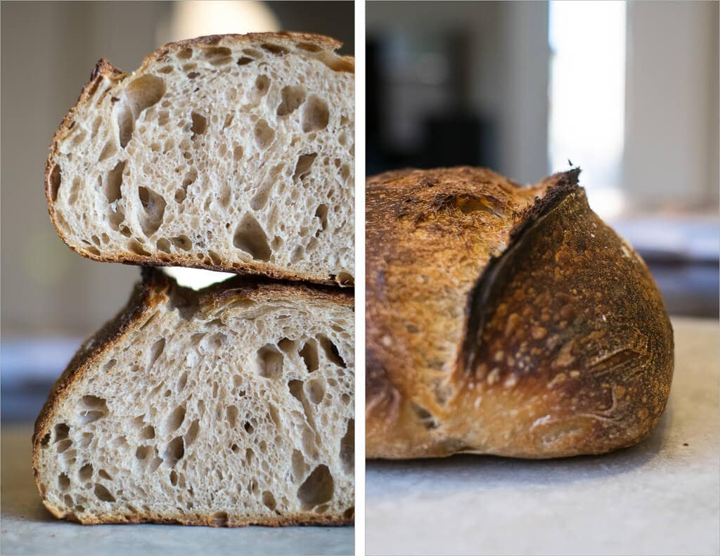 Tartine sourdough made with my strong yeast starter