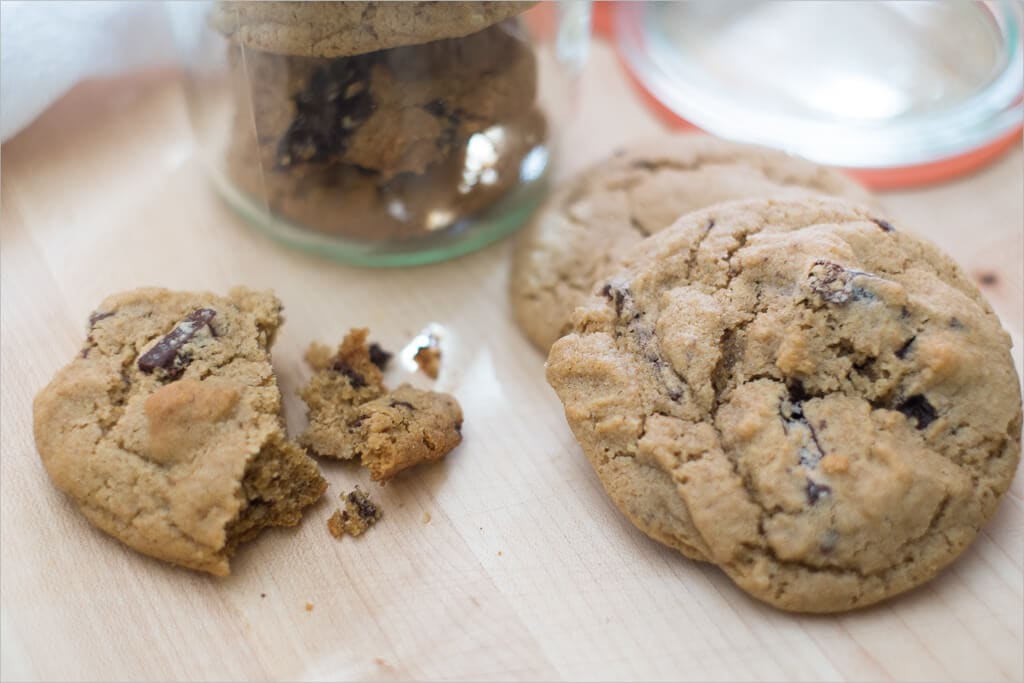 Whole wheat sea salt chocolate chunk cookies.