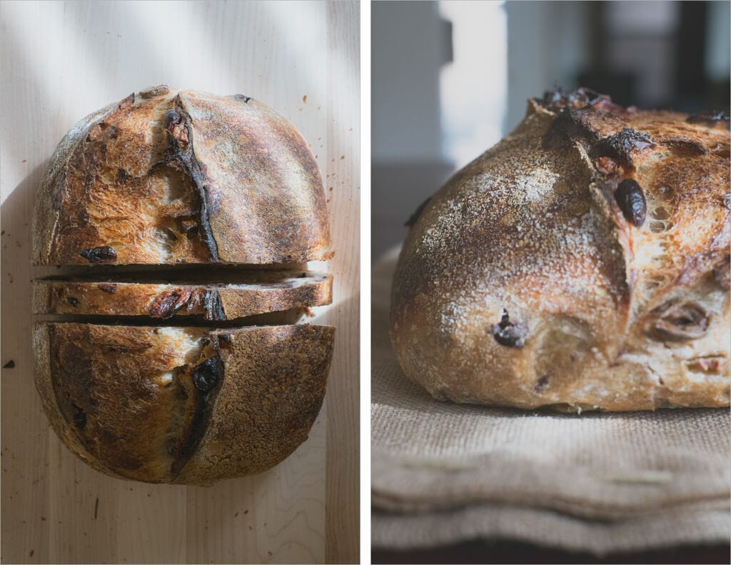 Tartine olive sourdough bread
