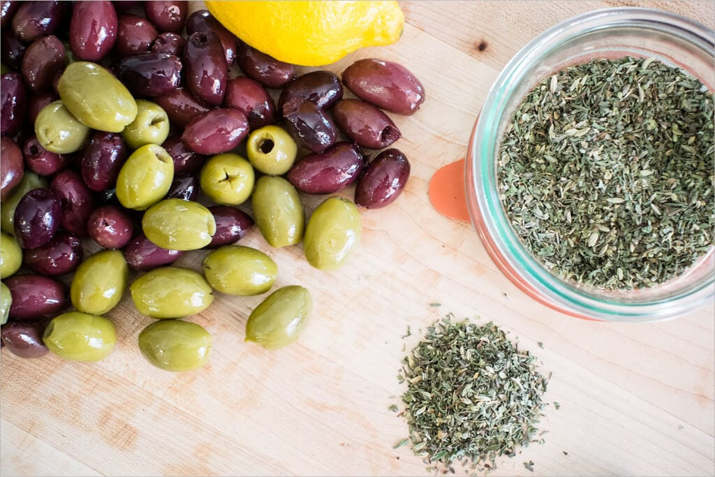 herbes de Provence and olives
