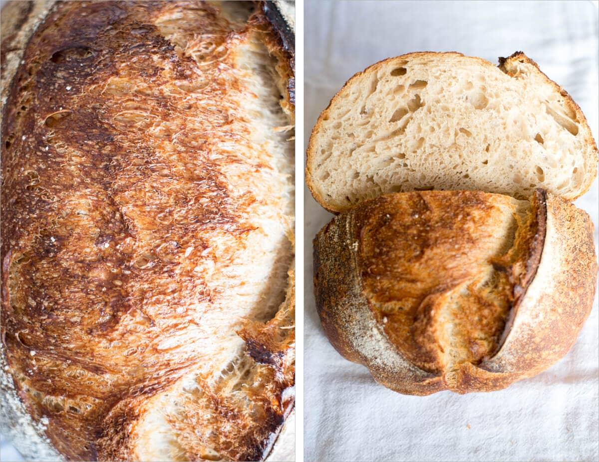 Great caramelization on the sourdough crust