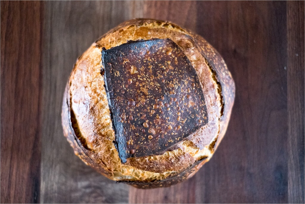 High(er) Hydration Sourdough Bread Thin and Crispy