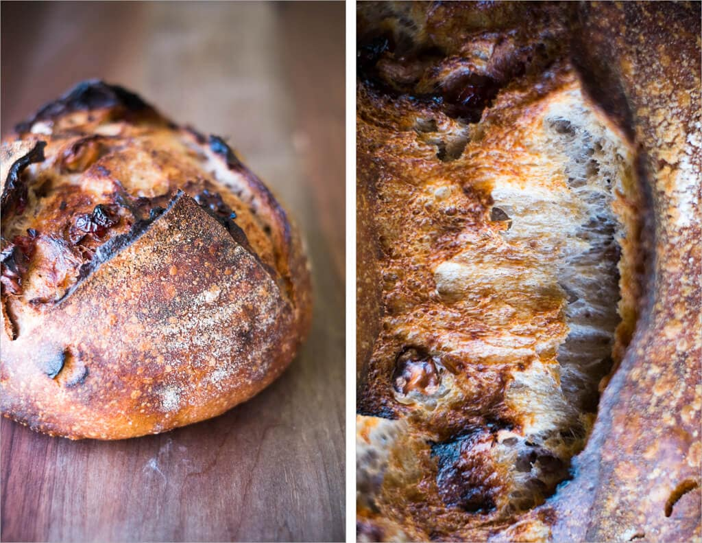 Walnut cranberry sourdough