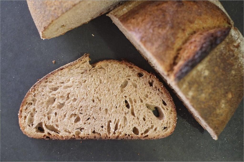 Ninety-five percent whole grain crumb