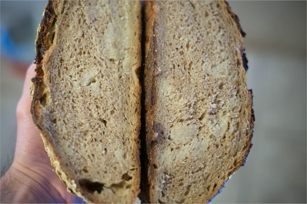Oat porridge bread attempt #1