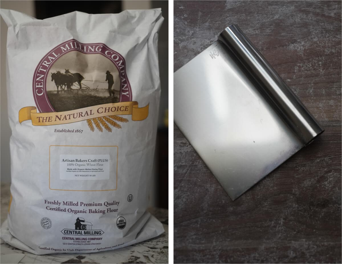 Central Milling Flour and my bench knife from Japan