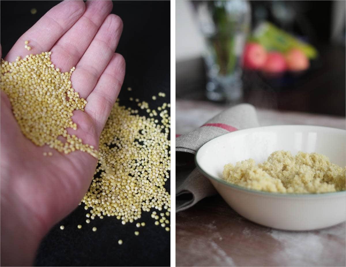 Tartine millet porridge sourdough, raw millet