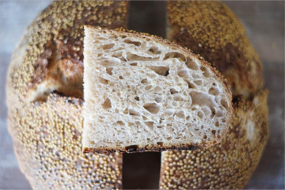 Sourdough bread crumb, super soft