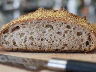 Tartine millet porridge sourdough