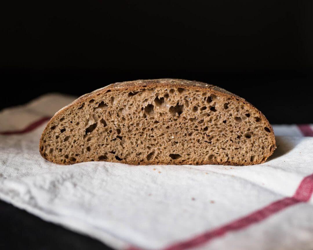 100% whole wheat sourdough bread