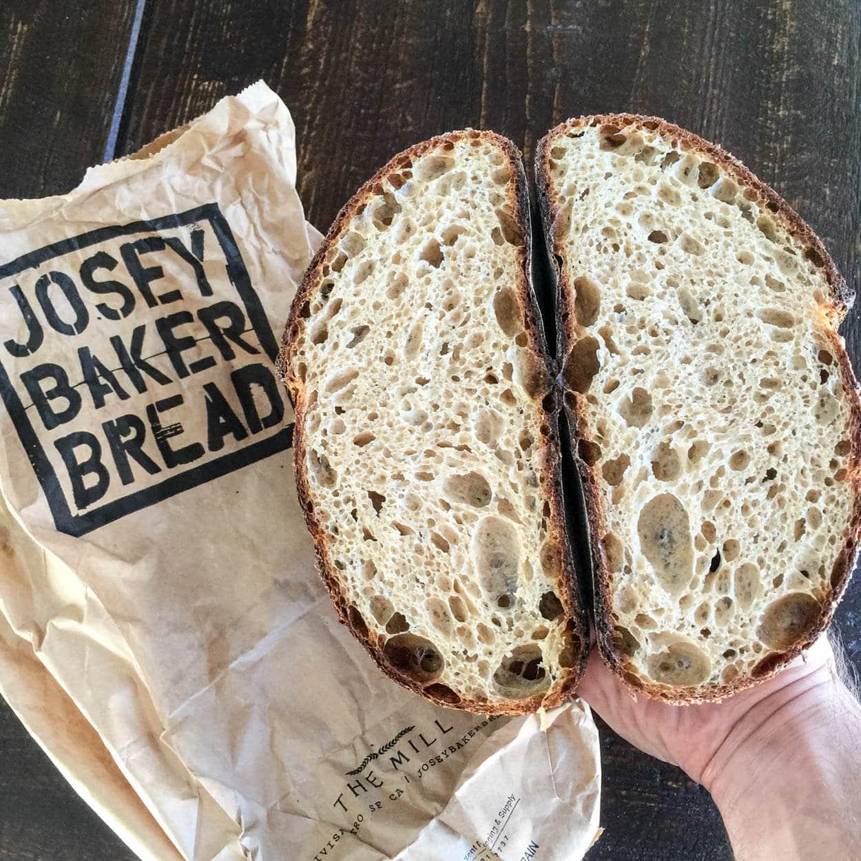 baking with stoneground red wheat, Josey's crumb