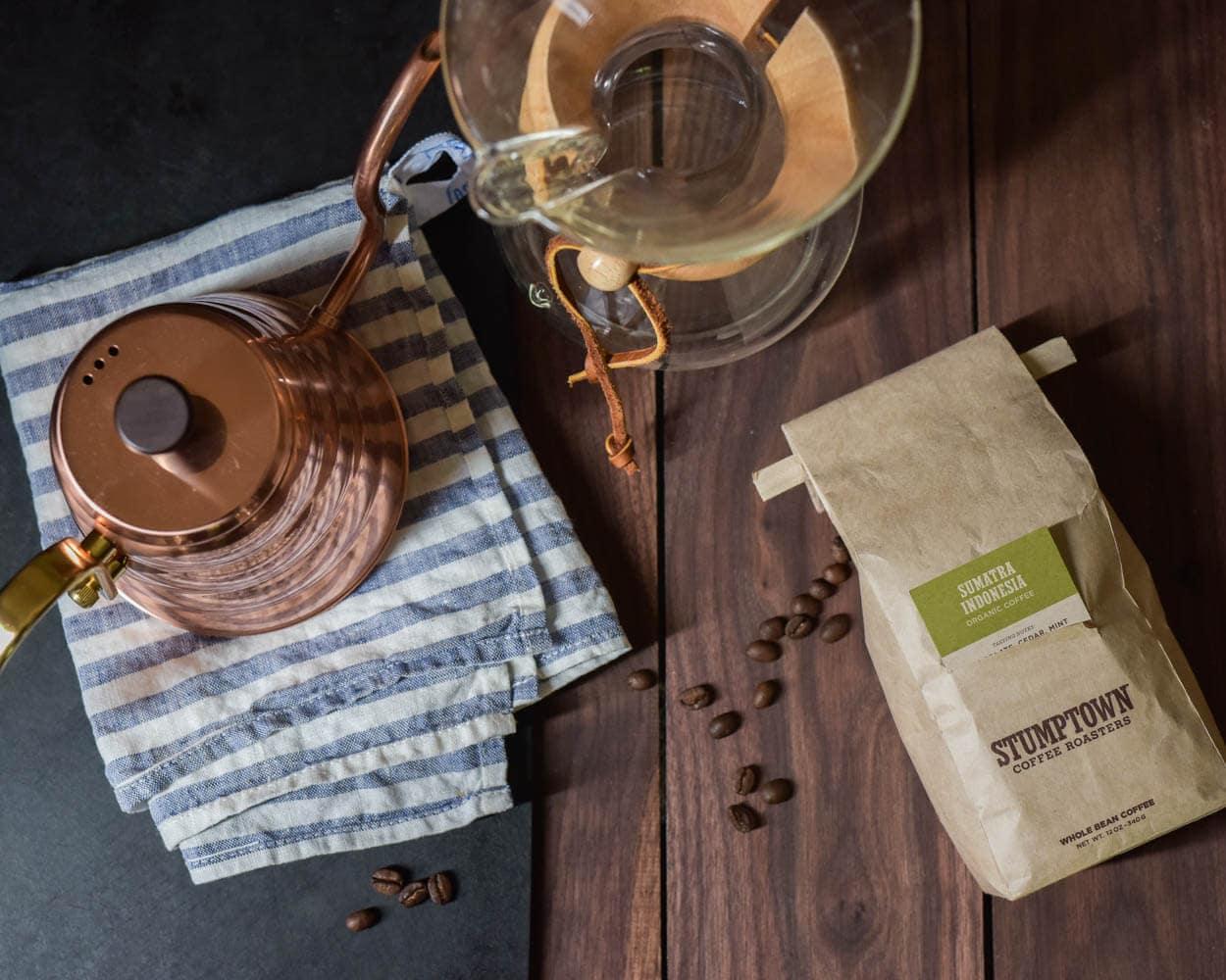 Morning Stumptown coffee before making 50% fresh milled whole wheat sourdough