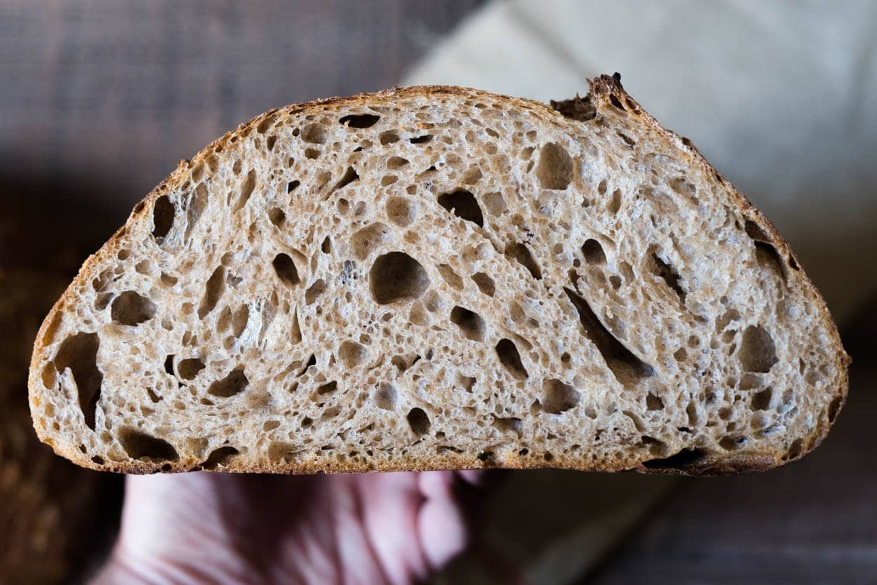 Fifty-percent whole wheat crumb
