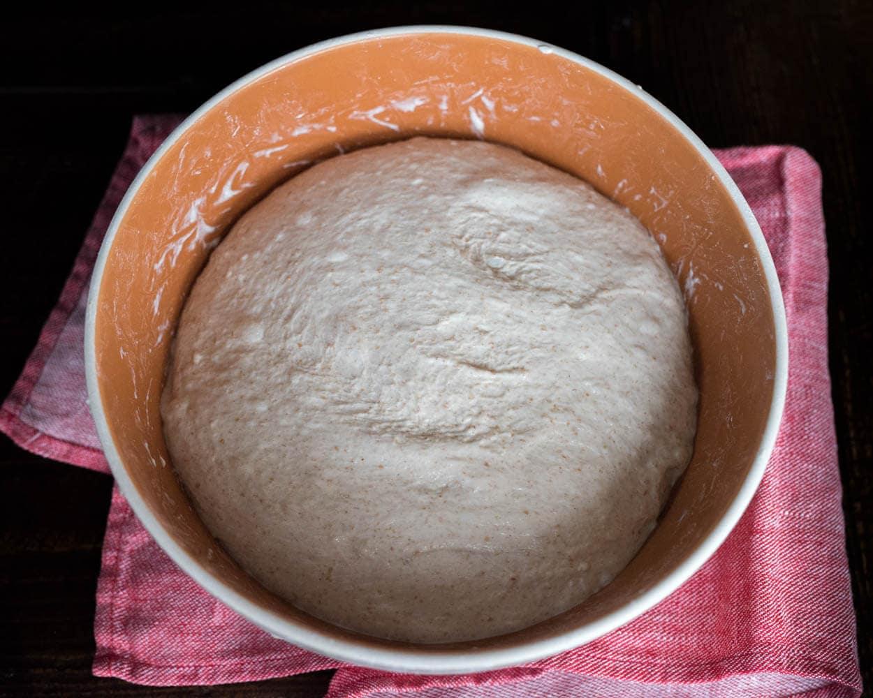 Bulk fermentation after third stretch and fold