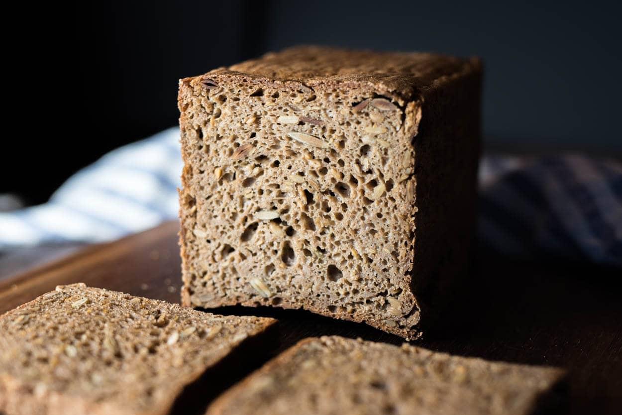 rye sourdough crumb