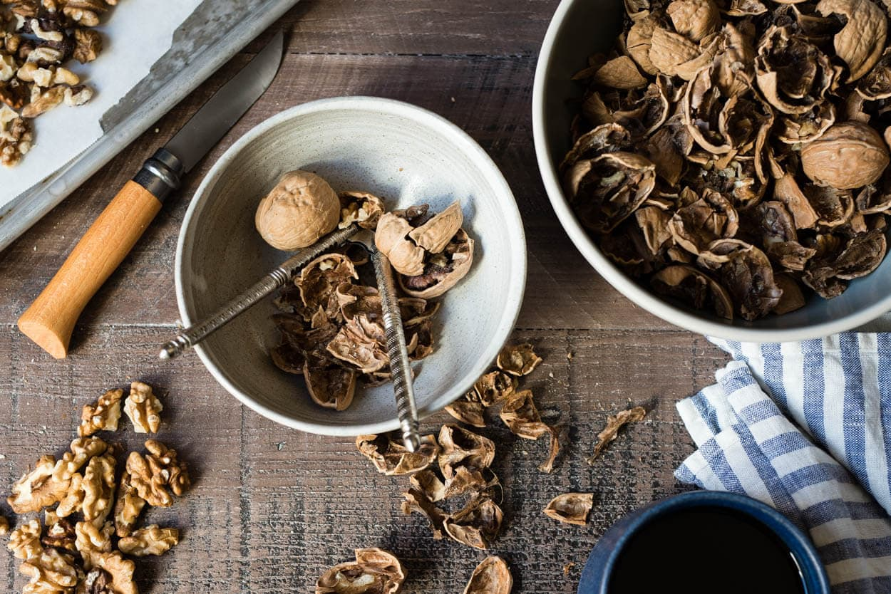 fresh shelled walnuts