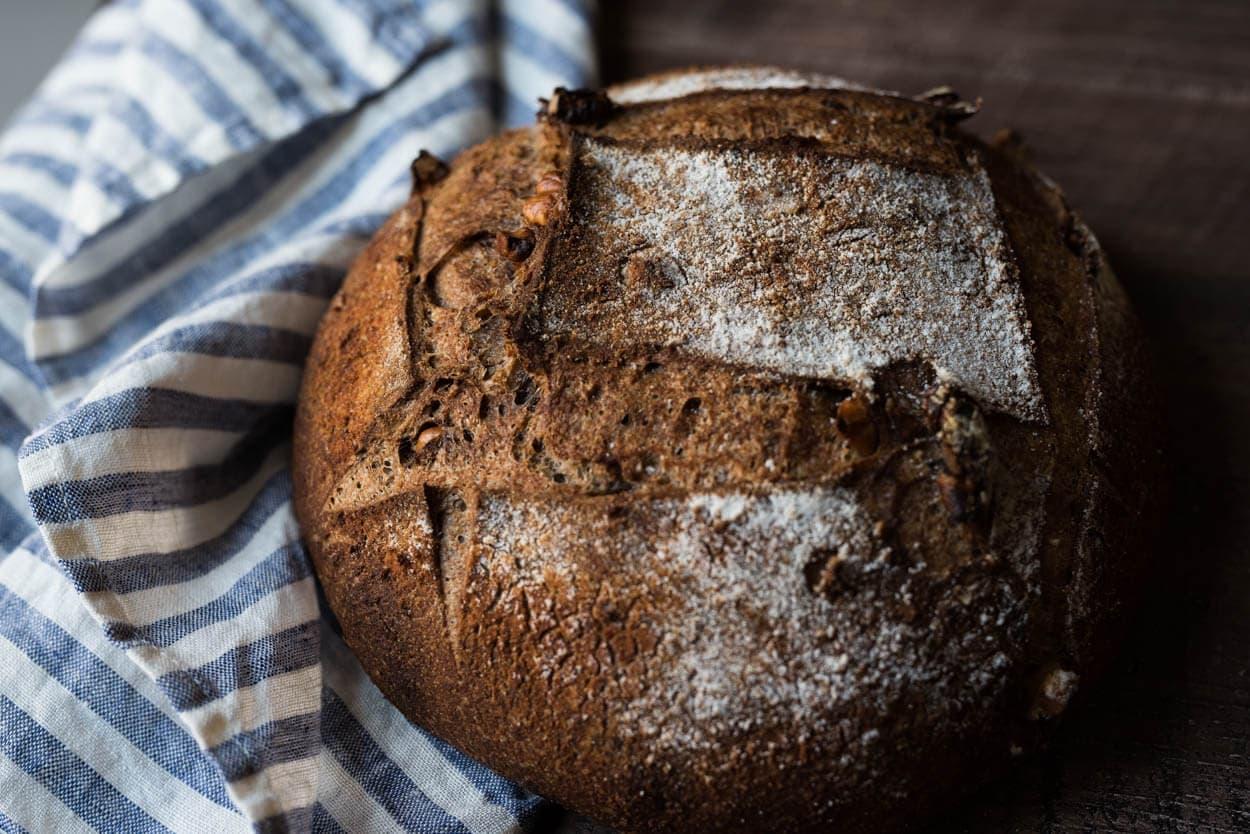 fresh milled whole wheat walnut crust