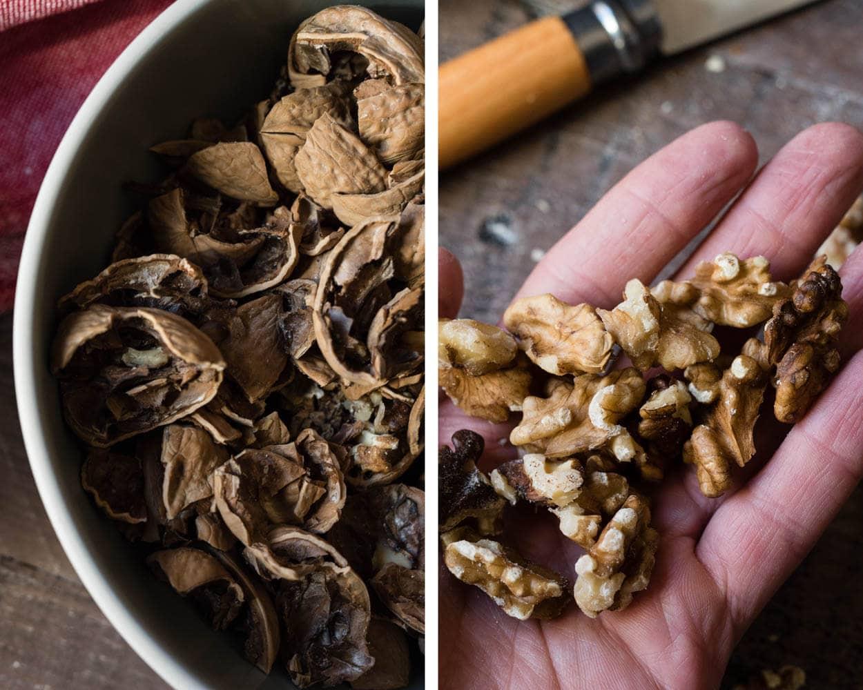 shelled organic walnuts