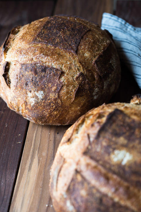 beginner's sourdough bread crust