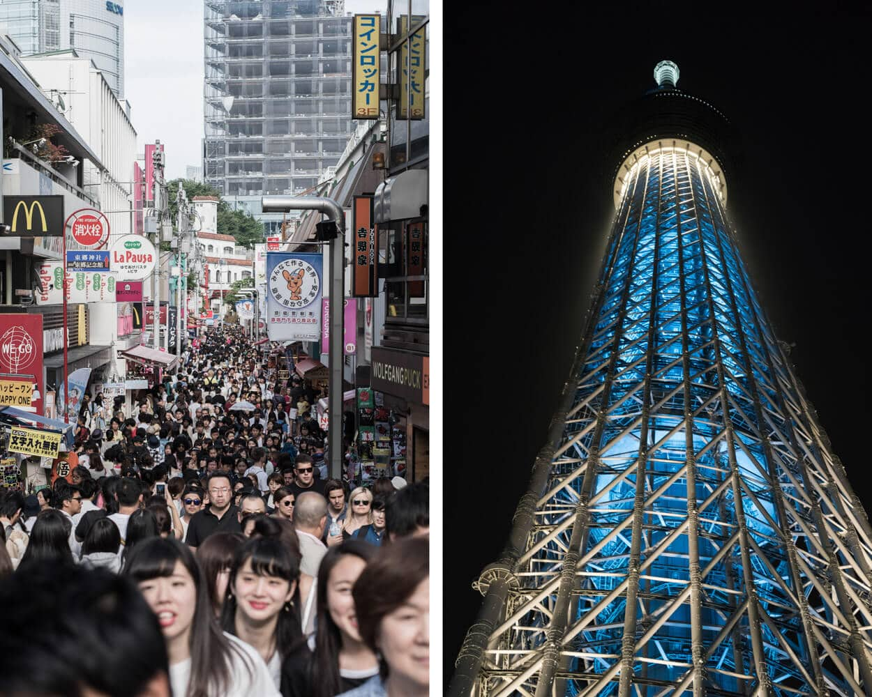 Takeashite Street and Tokyo Skytree Tower