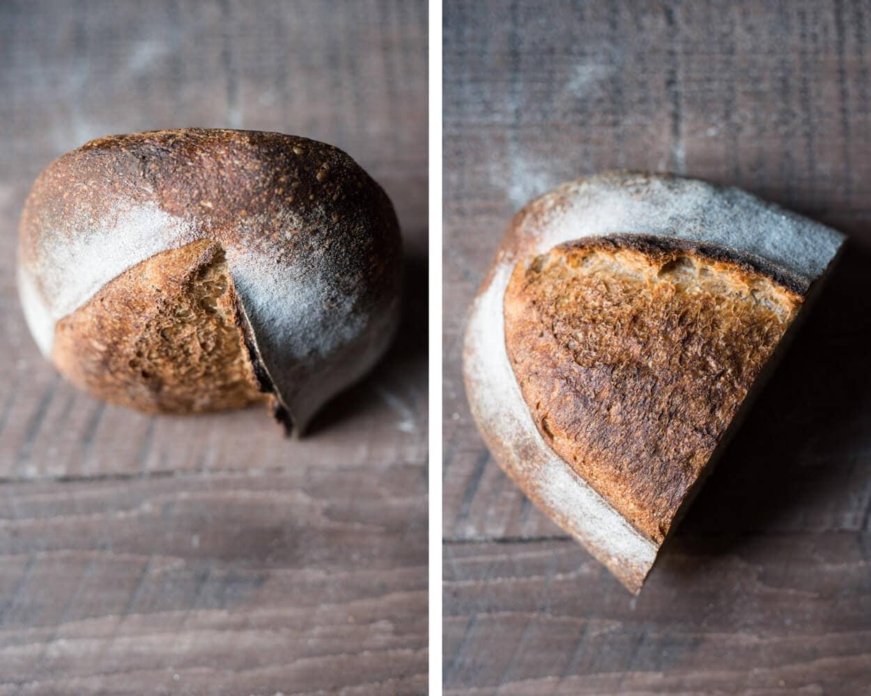 whole wheat sourdough crust
