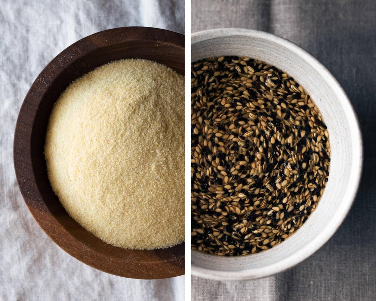 semolina and seed soaker