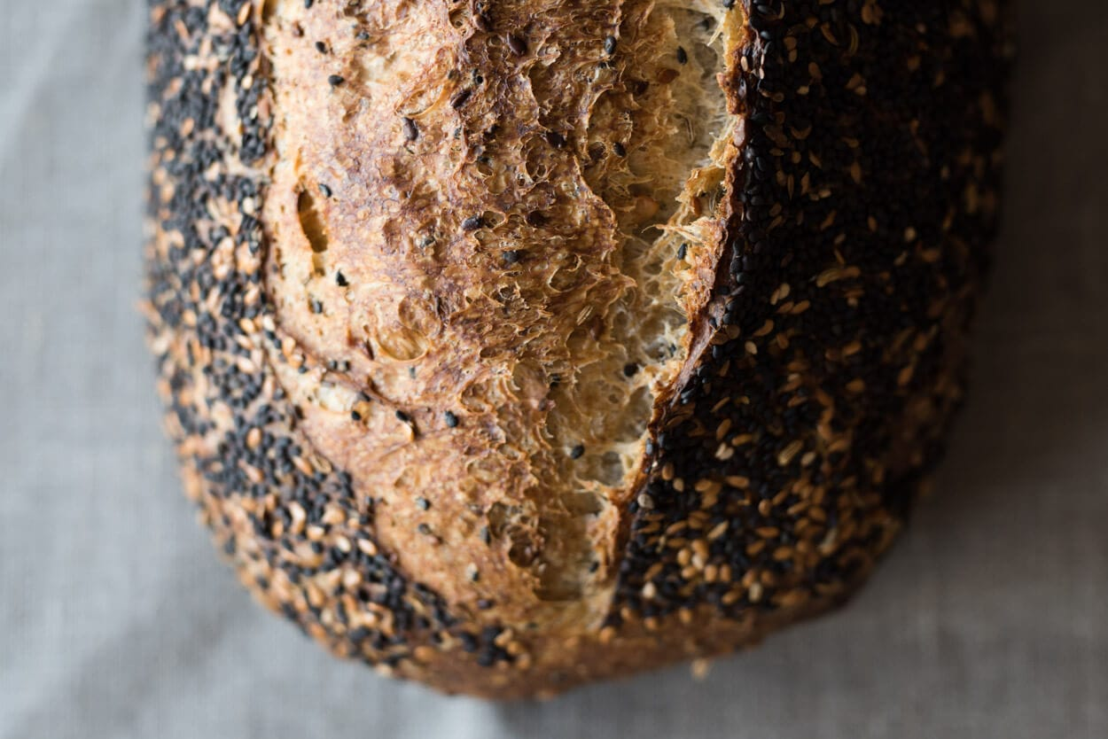 the perfect loaf seeded sourdough title