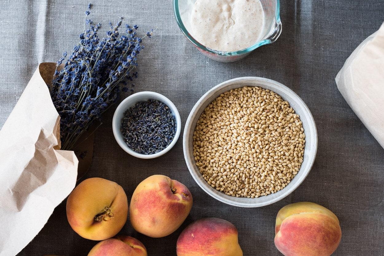 Lavender, peaches and white sonora grain
