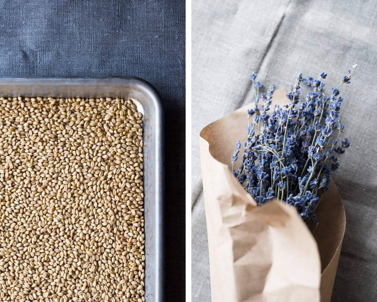 white sonora berries and lavender