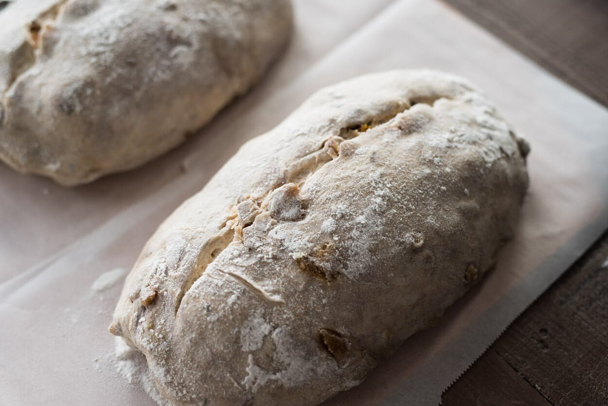 Scored dough