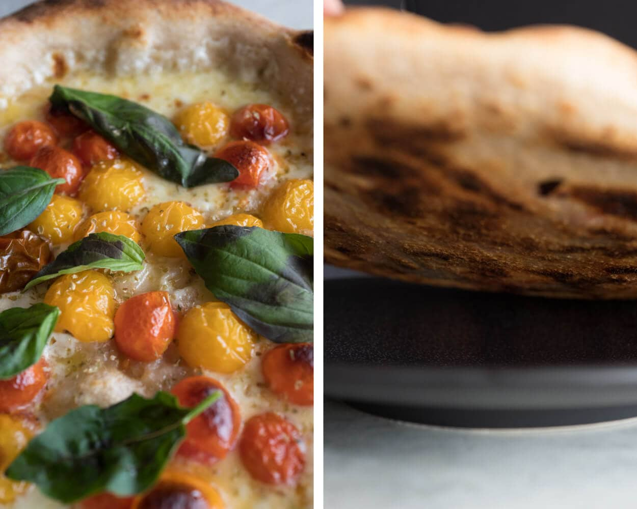 sourdough pizza toppings and bottom
