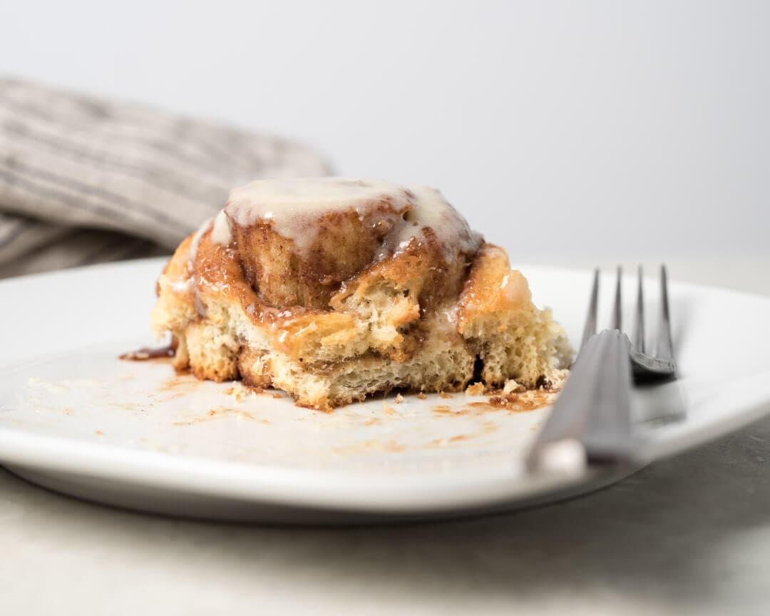 Sourdough cinnamon roll crumb