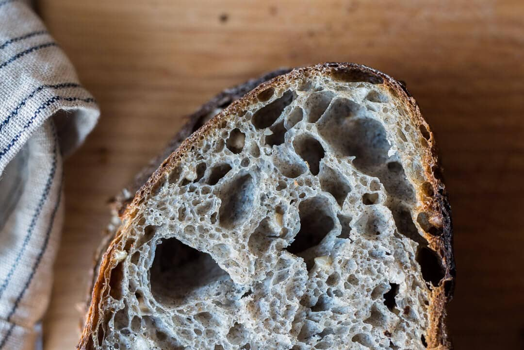 Sprouted Buckwheat Sourdough Crumb