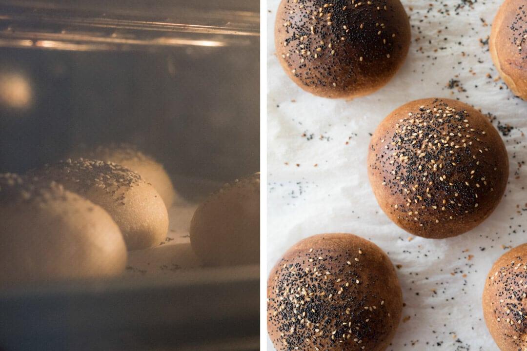Buns baking