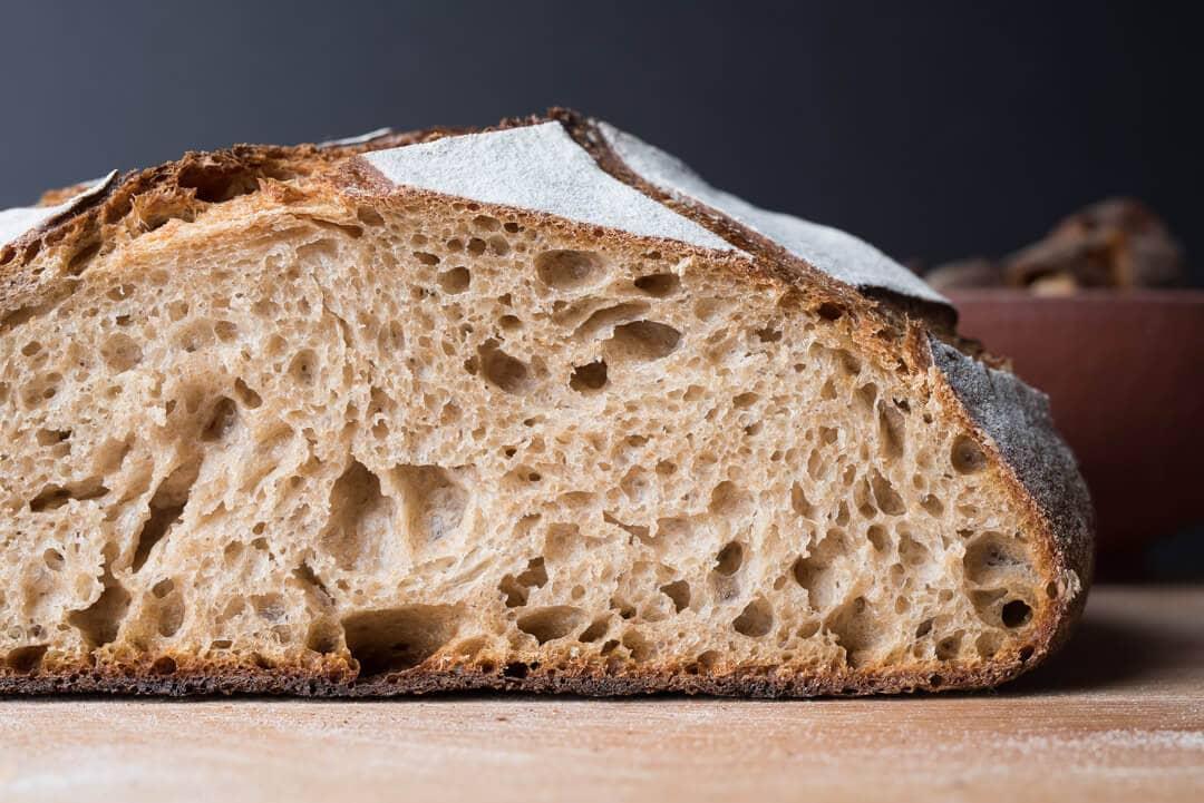 Sourdough bread crumb structure