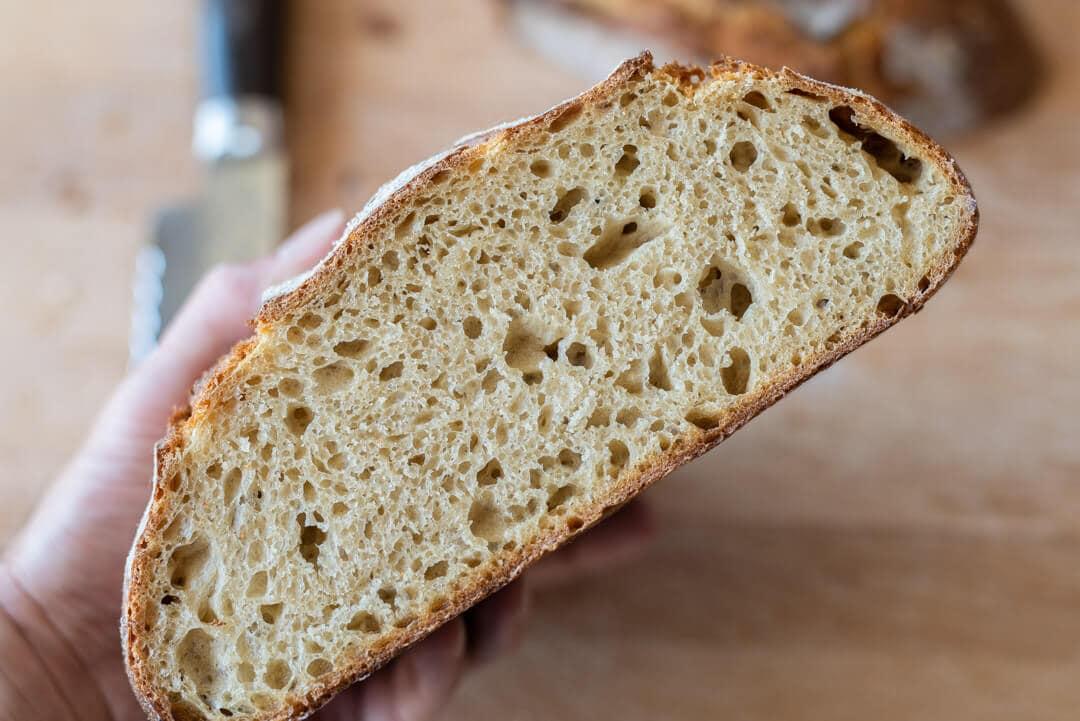 sourdough bread interior