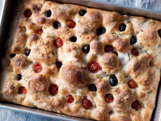 A Simple Focaccia via @theperfectloaf