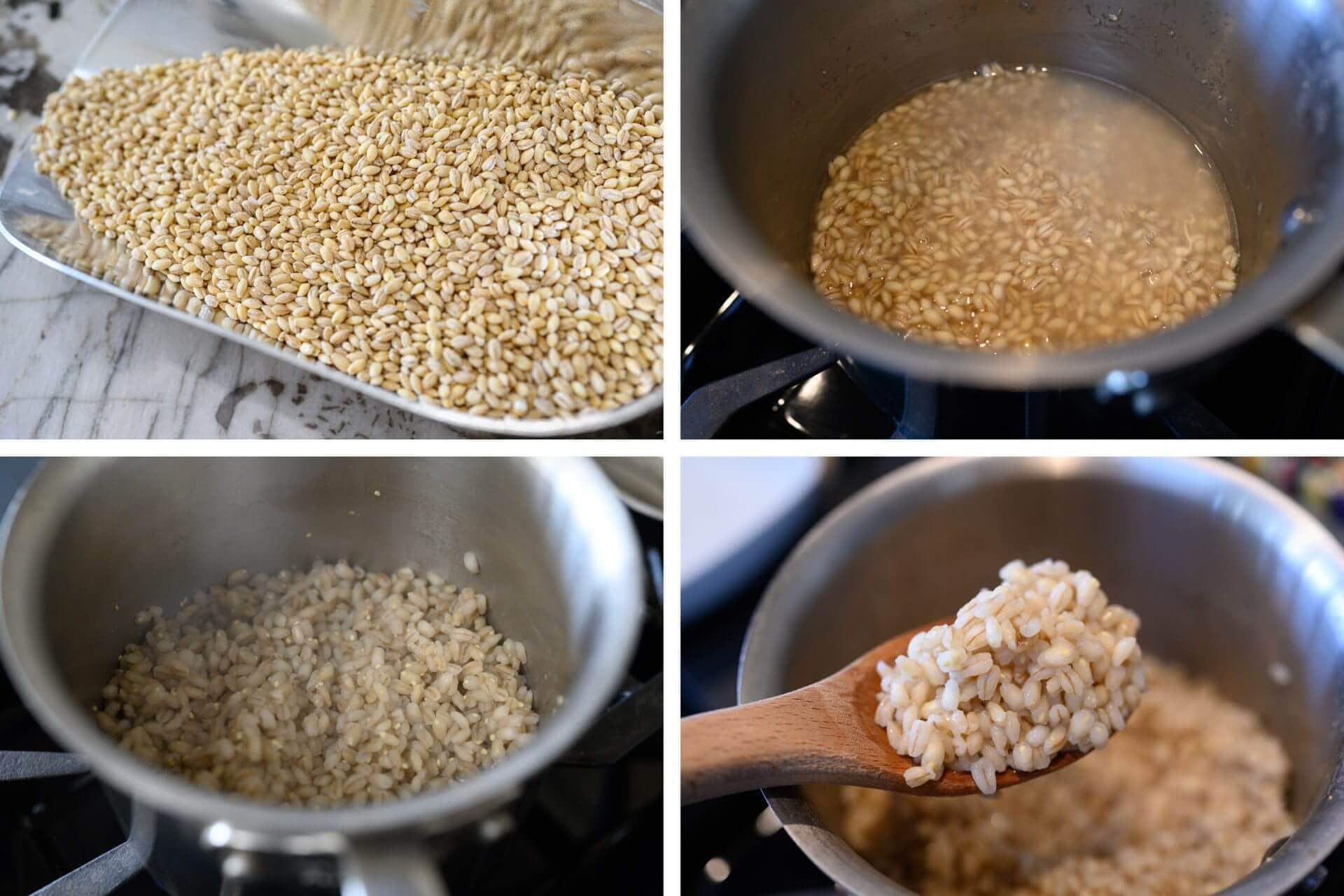 Hulled barley and barley porridge