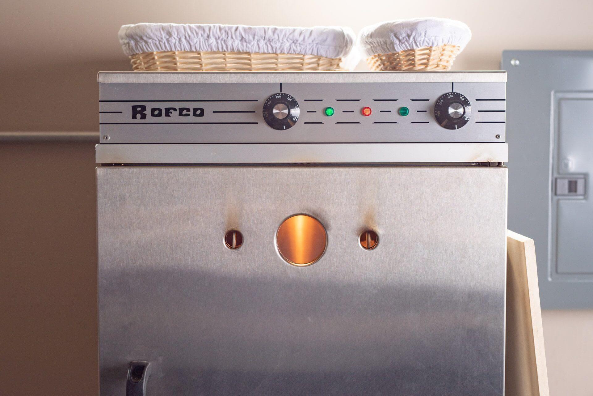 Baking bread in a Rofco B40 Bread Oven