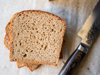 Whole grain spelt pan loaf crumb
