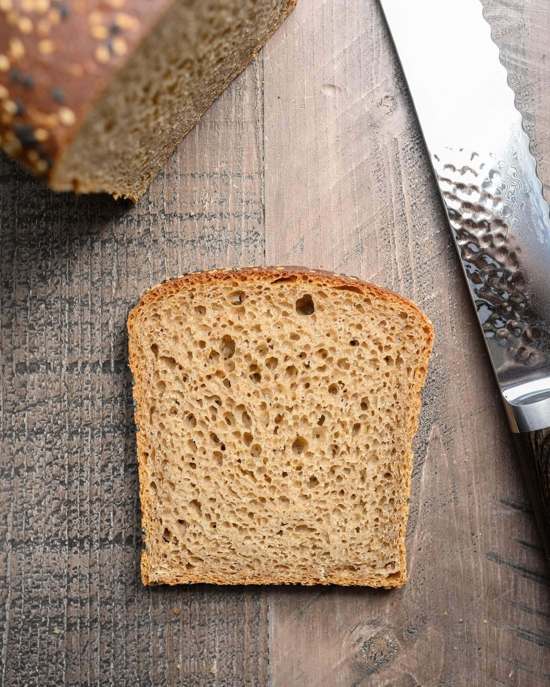 High hydration sourdough spelt bread