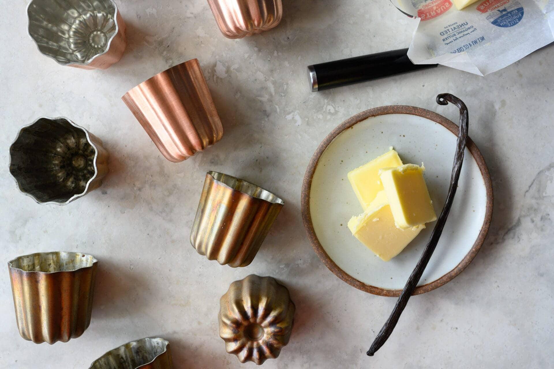 Tinned copper canelé molds