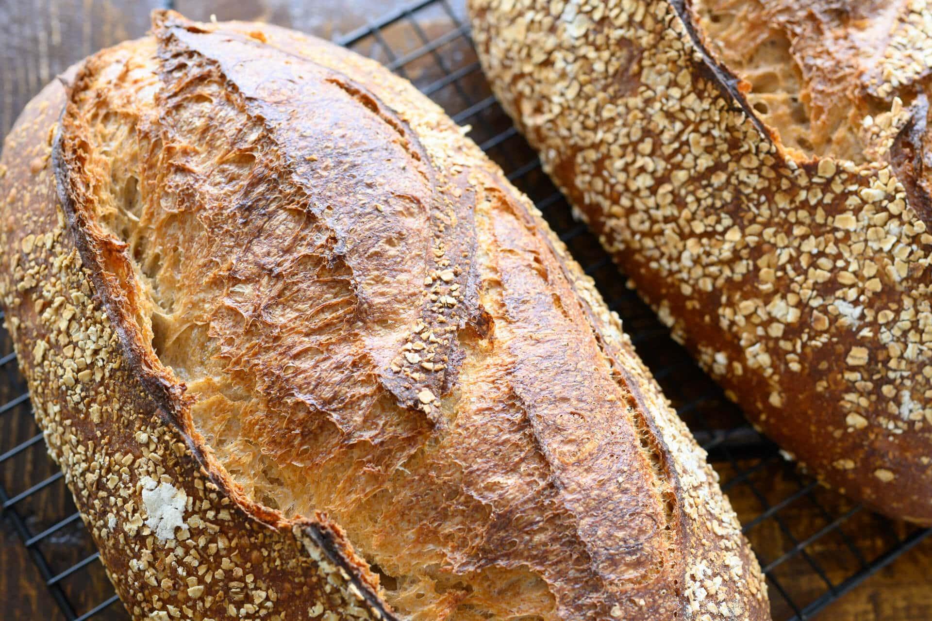 Spelt, rye, whole wheat crust