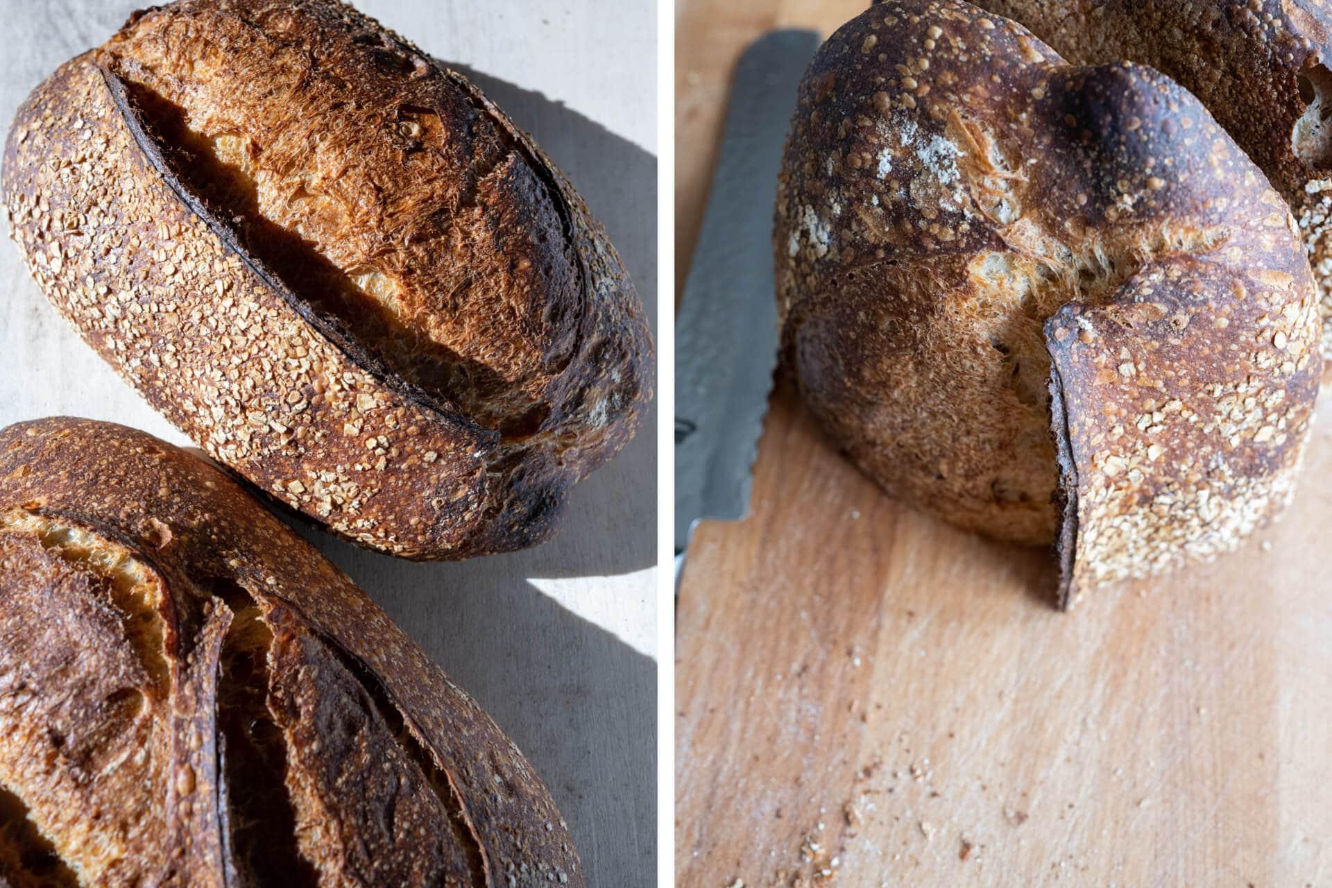 Store bread cut side down