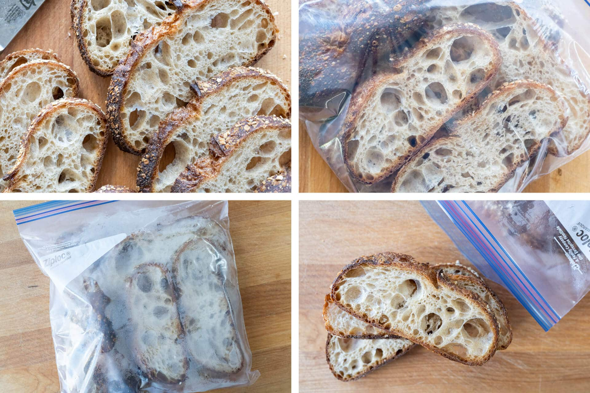 the best way to store bread, freezing it