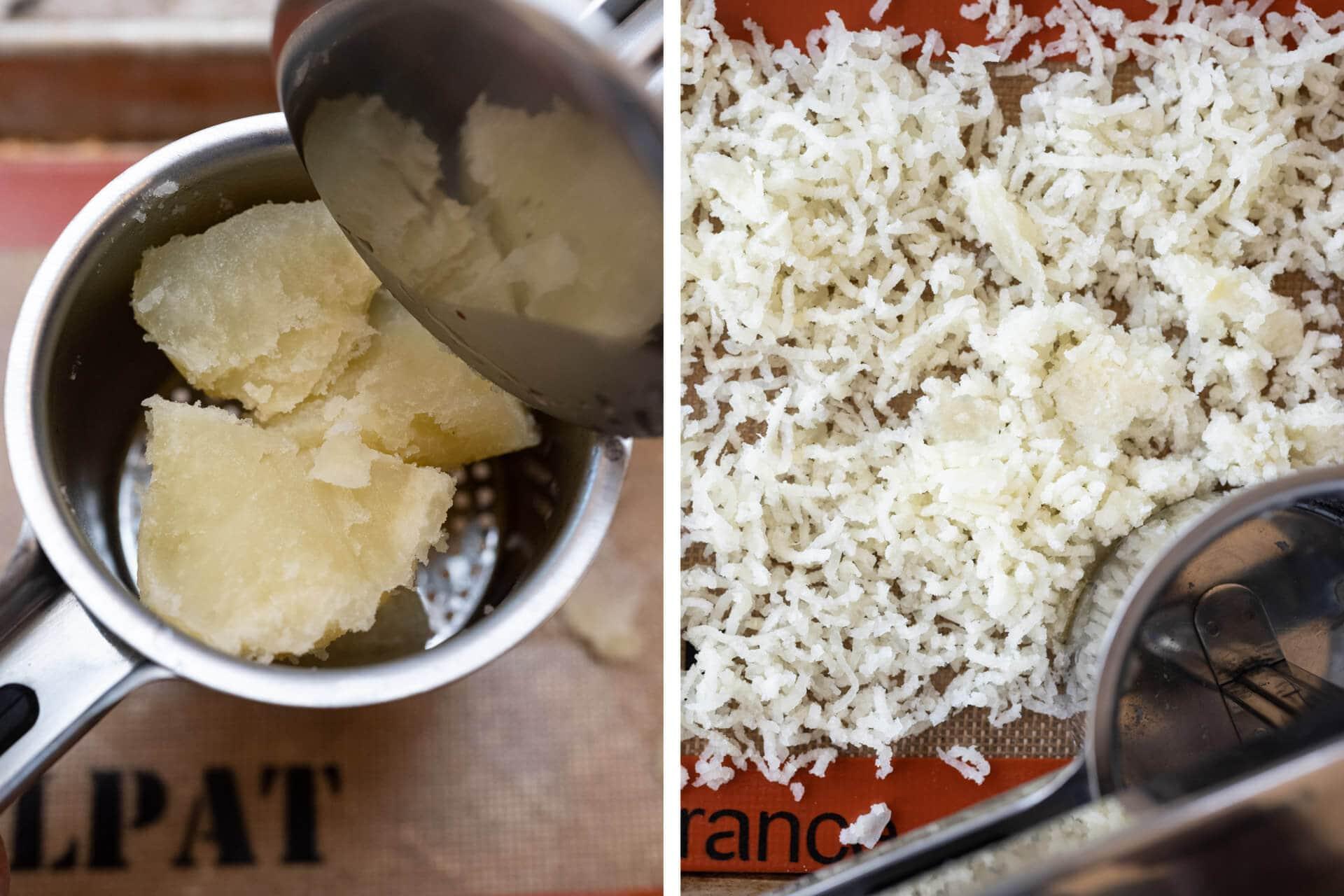 Ricing potatoes