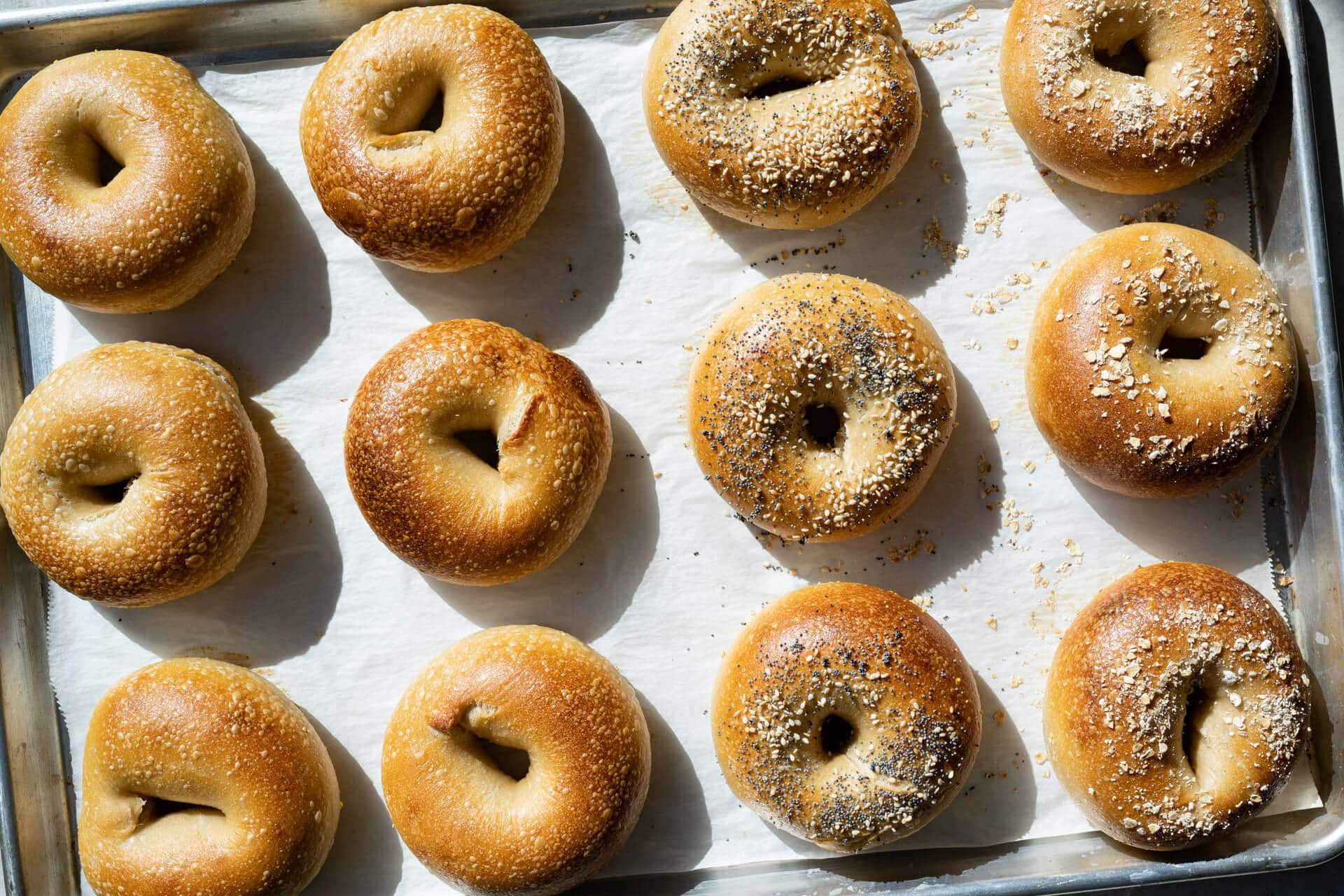New York style sourdough bagels
